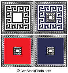 Classical ancient meanders - vector - A set of classical...