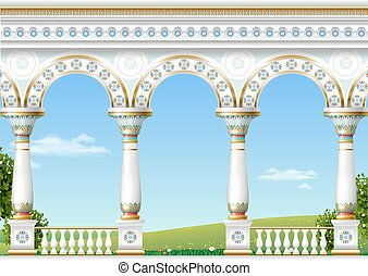 Classical arch of the eastern palace