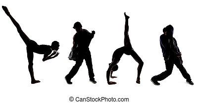 Classical Ballet Versus Modern Hip Hop Dance - Silhouettes...