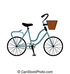 Classical bicycle icon
