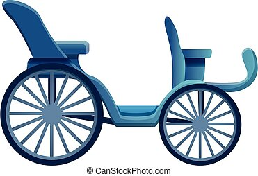 Classical carriage icon, cartoon style