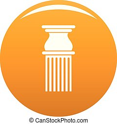 Classical column icon vector orange