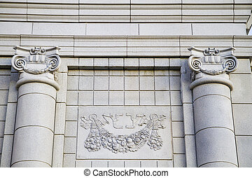 Classical Columns, Pillar, Architecture, Building, Roof