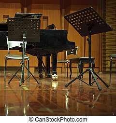 classical concert stage
