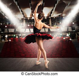Classical dancer at the theater - Classical dancer on the...
