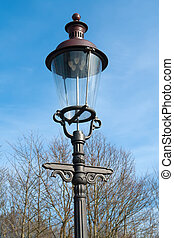 Classical decorated street lamp