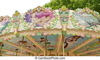 Classical Fairground Carousel - French style rotating...