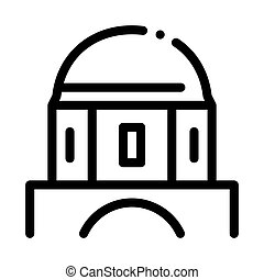 classical greek building dome icon vector outline illustration