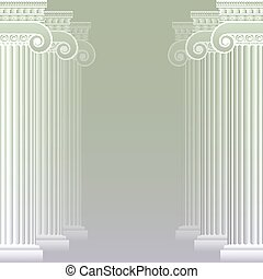 Classical greek or roman columns. Vector illustration. Easy ...