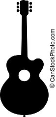 Classical Guitar Silhouette