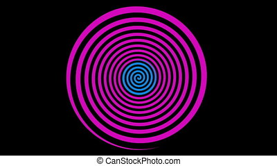 Loopable video 1920x1080 - Classical colored rotating spiral. Animation for hypnosis