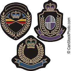 insigina emblem badge shield - classical insigina emblem ...