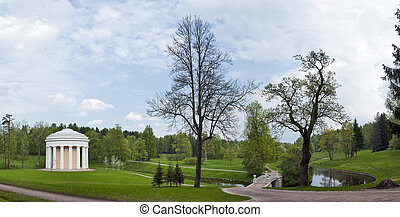 Classical landscape in spring