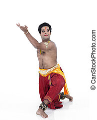 classical male dancer from india