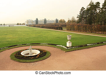 Classical manor landscape