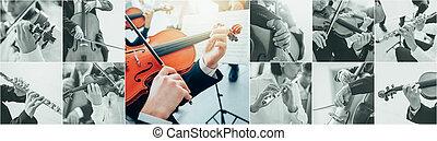 Classical Music Collage - Classical music collage of...