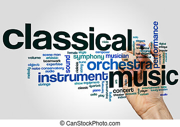 Classical music word cloud concept