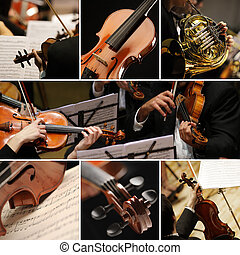 classical musik, collage