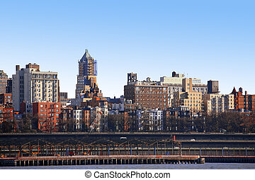 classical NY - Bronx, view from Manhattan, USA