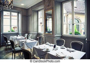 classical restaurant - classical interior of France...