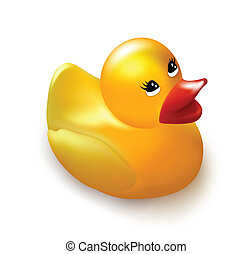 Classical rubber yellow duck. Vector illustration