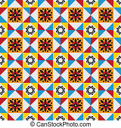 Classical tiles pattern - Portuguese floor tiles