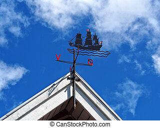 Classical traditional design Marine weather wind vane