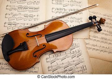 Classical violin - Old violin background