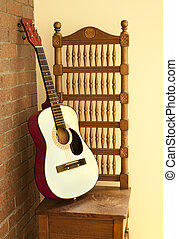Classical wood guitar