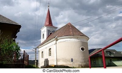 Classicist Evangelical church from 1811 in Hankova, district...