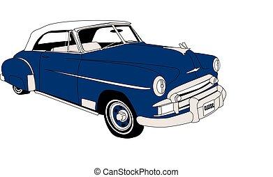 classico, 1950's, convertibile