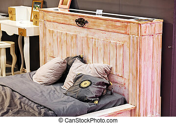 classico, letto, mobilia