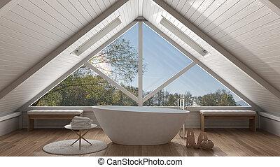 Minimalista giardino panorama classico grande spazio for Finestra termale