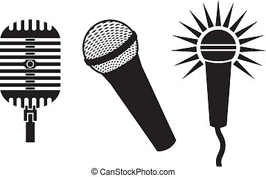 classico, microfoni, simboli