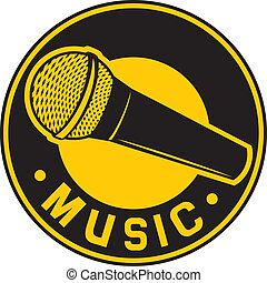 classico, microfono, simbolo