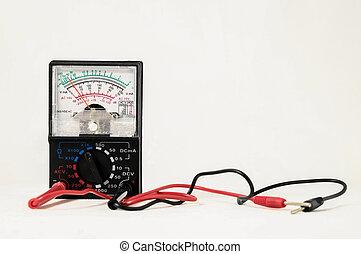 classico, nuovo, elettricità, tester