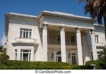 classico, stucco, columned, casa