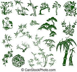 classico, tradizionale, bambù