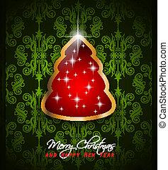 classieke, begroetenen, achtergrond, kerstmis