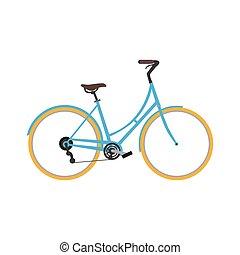 classieke, fiets, pictogram