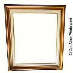 classieke, goud, frame