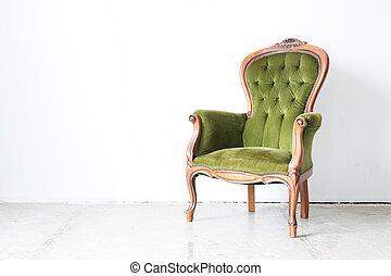 classieke, groene stoel