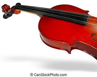 classieke, op, closeup, achtergrond, viool, schaduw, witte