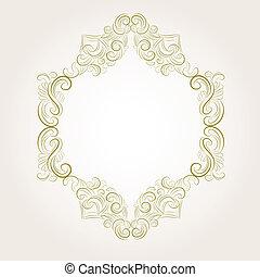classieke, ouderwetse , victoriaans, frame