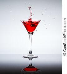 classieke, tijdgenoot, cocktail