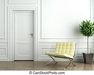 classieke, witte , interieur