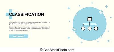 classificatie, illustratie, spandoek, pictogram, mal, lijn,...