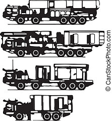 classification of trucks vector silhouettes