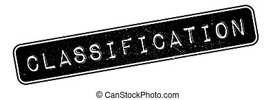 Classification rubber stamp