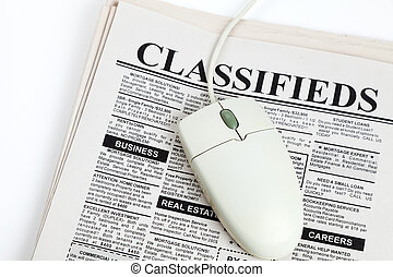 Classified Ad and computer mouse - Fake Classified Ad,...